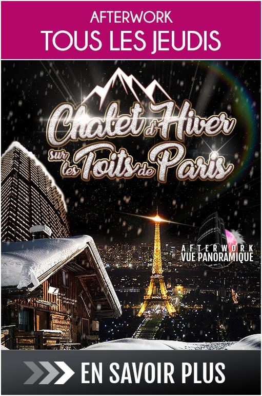 Afterwork Chalet d'hiver sur les toits de Paris au Tout le Monde en Parle !