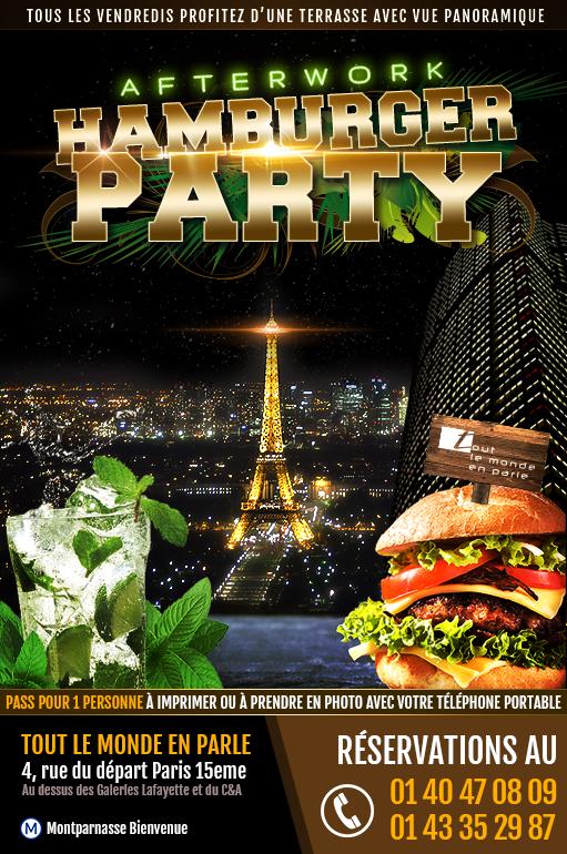 After work Hamburger Party tous les vendredis au Tout le Monde en Parle