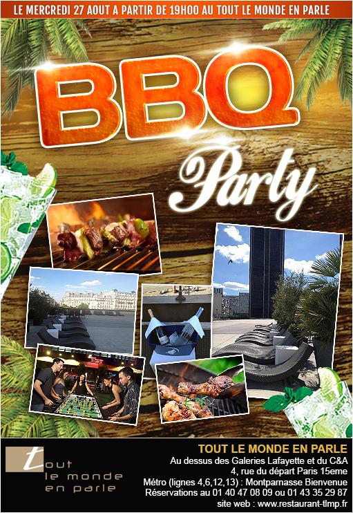 Soirée BBQ Party - Barbecue geant au restaurant Tout le Monde en Parle