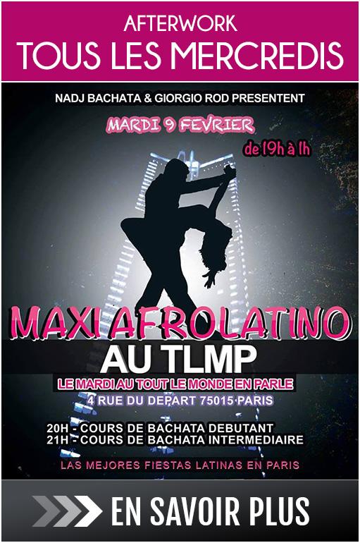Afterwork tapas au Tout le Monde en Parle : tous les mardis, cours de danse latine, After work Maxi Afrolatino
