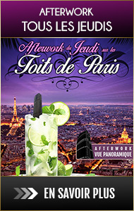 Soirée afterwork Jeudi sur les toits de Paris